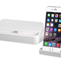 8-Pin Charging Dock for iPhone 6/ iPhone 6 Plus (White)