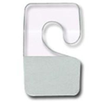AF-007 Clear Plastic Adhesive Hooks - Pack of 200