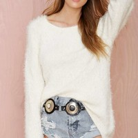 Knitz by For Love and Lemons Spring Fling Fuzzy Sweater