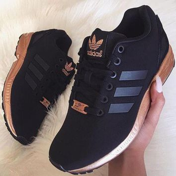 "simpleclothesv £º Womens ""Adidas"" ZX Flux Black Copper Rose Gold Metallic NMD"