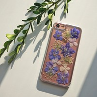 iPhone 7 Case Floral, iPhone 6s Case Clear, Pressed Flower iPhone 6s Plus Case, iPhone 8 Plus Phone Case, iPhone X 8 5s 5c 5 SE Cover Tree