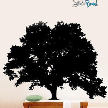 Vinyl Wall Art Decal Large Tree Silhouette Decoration #171