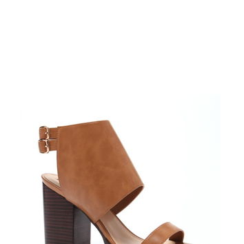 Faux Leather Block Heels | Forever 21 - 2000170788