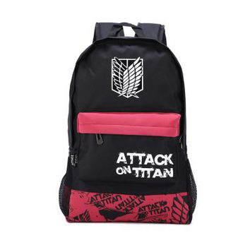 Anime Backpack School kawaii cute Attack on Titan Cosplay Student campus men and women leisure travel backpack high quality backpack AT_60_4