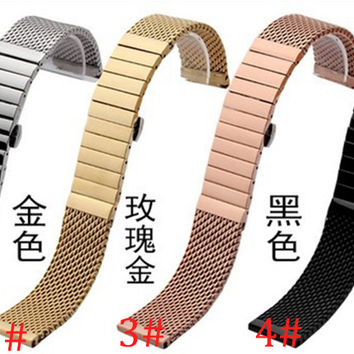 Rosegold Stainless Steel Watchbands Bracelets 20mm 22mm mesh and steel special fashion watch accessories Fast delivery