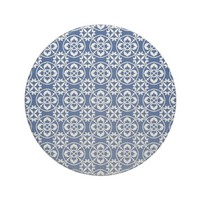 Fleur De Lis Pattern in Blue and White Coasters