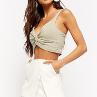 Twist-Front Crop Cami