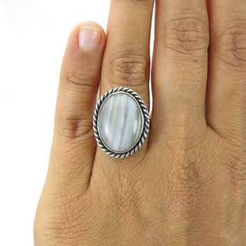 Sterling Silver Ring with stone,handmade,ooak