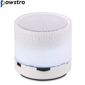 Powstro LED Portable Mini Bluetooth Speakers Wireless Hands Free Speaker With TF USB Christmas Gift