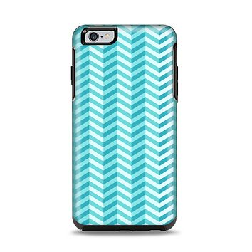 The Light Blue Thin Lined Zigzag Pattern Apple iPhone 6 Plus Otterbox Symmetry Case Skin Set