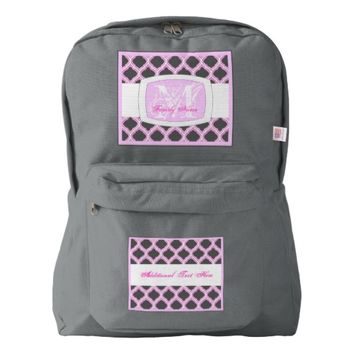 Duo-Tone Moroccan Trellis (Pink) Backpack