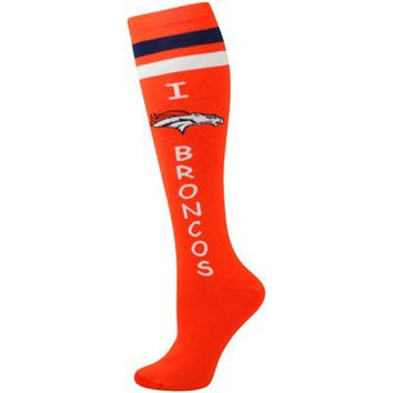 Denver Broncos Ladies I Heart My Team Knee-High Socks - Orange