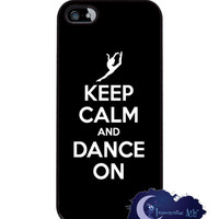 Keep Calm and Dance On - iPhone 5 Slim Case, Cell Cover - Dancer, Ballet, Jazz