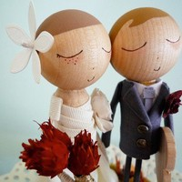 Custom Keepsake Fall Wedding Cake Topper with Custom by bthanari