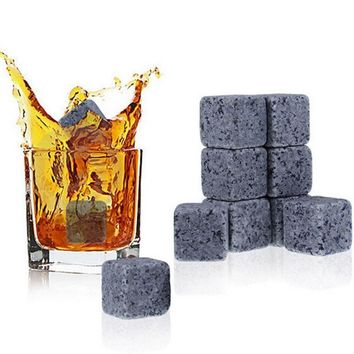 Natural Whiskey Stones Sipping Ice Cube Cooler Gift