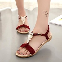 Women Sandals Summer Bohemia Beach Shoes Women Gladiator Sandals Ladies Fashion Flats Summer Female Shoes Sandalias Mujer