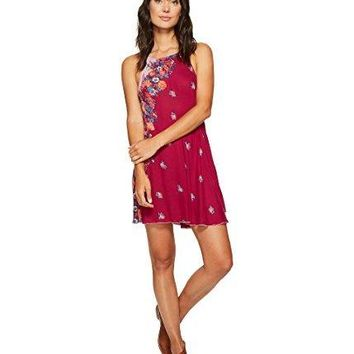 Intimately Free People Womens It's A Cinch Floral Print Asymmetric Slip Dress