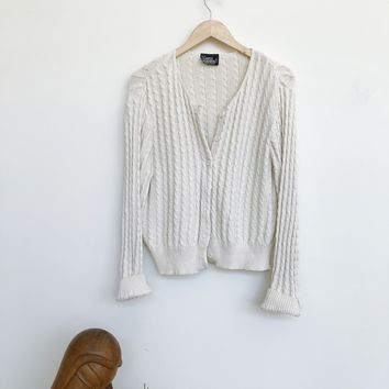 Vintage 1990's Cotton Cable Cardi