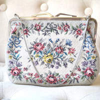 1950s Tapestry Purse