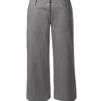 Wide Leg Culottes Cropped Capri Pants (CLEARANCE)