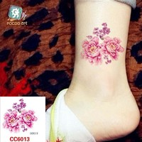 Tattoo Sticker Mini Body Art waterproof temporary flower design