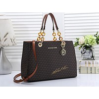 MK Hot-Selling Lady's One-Shoulder Bag with Full Print Colour Coffee