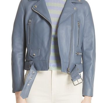 ACNE Studios Mock Leather Moto Jacket | Nordstrom