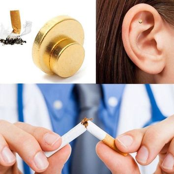 2pcs Magnet Auricular Zerosmoke Acupressure Therapy Quit Smoking Patch Not Cigarettes Magnets Therapy Health Care Tool