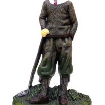 Cast Iron Door Stop Golfer Figurine
