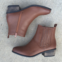 A Cute Fall Bootie in Brown