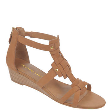 Franco Sarto Ulysses Nubuck Leather Wedge Sandals