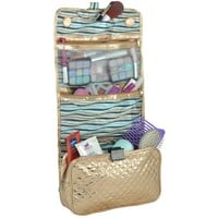 MG Collection Hanging Quilted Makeup Toiletries Organizer Travelbag