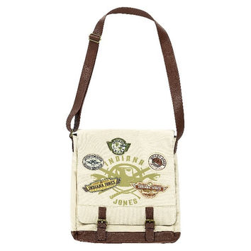 Disney Parks Indiana Jones Patches Messenger Bag New with Tag