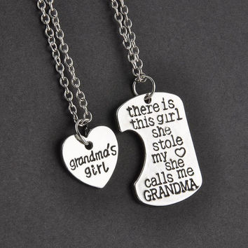 Grandma Granddaughter Necklace