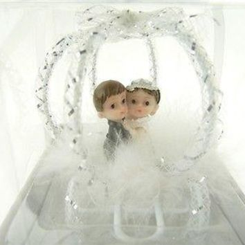Wedding Bridal Shower Anniversary Party Favor Souvenir Gift Keepsake Ready Made, Couple Kids in Carriage