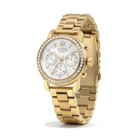 LEGACY SPORT GOLD PLATED CRYSTAL BRACELET WATCH