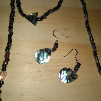PAUA SHELL set