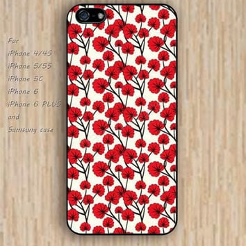 iPhone 6 case dream hot pink flowers cartoon iphone case,ipod case,samsung galaxy case available plastic rubber case waterproof B154