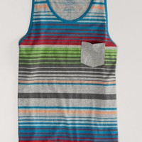 AEO Men's Striped Tank (Derby Grey Heather)