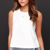 Air Kiss Ivory Sleeveless Top