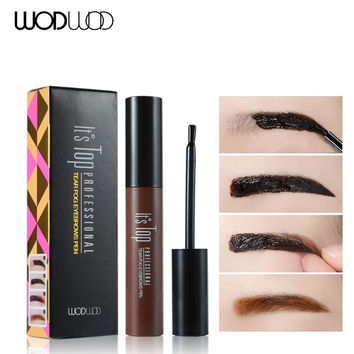 Tattoo Eyebrow Mascara Tint WODWOD 3D Brand Long lasting Peel Off Natural Eyebrow Gel Cream Waterproof Professional Dye Makeup