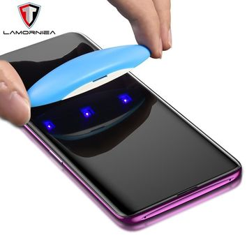 UV Tempered Glass For Samsung Note 9 S9 S9 Plus Full Liquid Glue Screen Protector