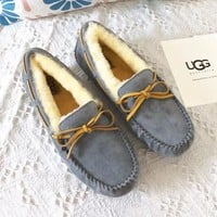 UGG fashionable men and women with cotton shoes fur integrated with wool steamed stuffed bun shoes