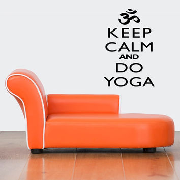 Wall Decor Vinyl Sticker Room Decal Decor Keep Calm And Do Yoga, Kill Monsters, Pray On, Do It Yourself Signs Inspirational Quotes