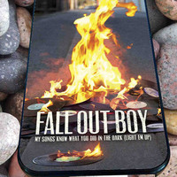 fall out boy fire for iPhone 4/4s/5/5S/5C/6, Samsung S3/S4/S5 Unique Case *95*