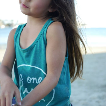 Peacock Green Tri-Blend Tank Top with logo in White