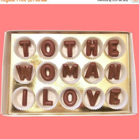 First Anniversary Gift for Girlfriend Wife GF Her To The Woman I Love Large Milk Chocolate Letters Message Valentines Day Wedding Romantic