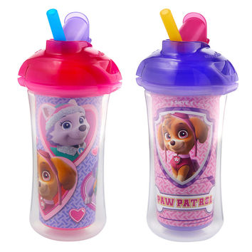 Paw Patrol 2 Pack Straw Cup - Girl