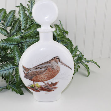 Woodcock Bird Whiskey Decanter with Stopper, Dant Distillery, Vintage Liquor Decanter