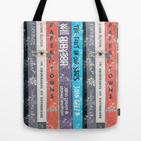 John Green Stack of Books Tote Bag by Anthony Londer